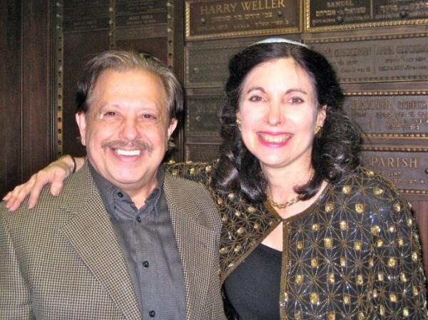 Ellis Nassour and Rabbi Jill