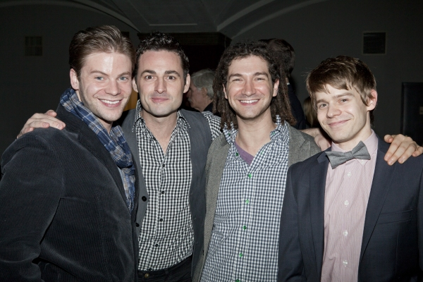 Brian Letendre, Max von Essen, Adam Wachter and Andrew Keenan-Bolger at Broadway's Best Sings for The Trevor Project