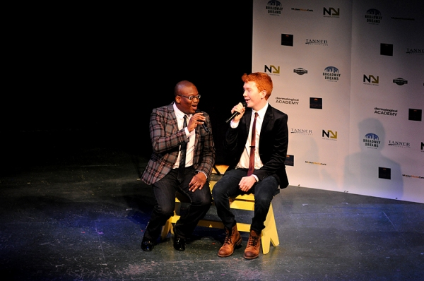 Titus Burgess & student at Butler, Davis and More Sing for Broadway Dreams Foundation