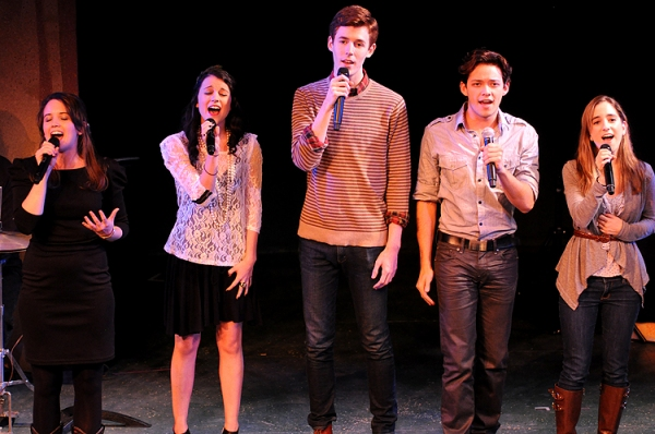 Phoebe Strole, Alexandra Soch, Blake Daniel, Robi Hager & Remy Zaken at Butler, Davis and More Sing for Broadway Dreams Foundation