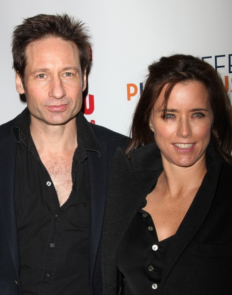 David Duchovny & Tea Leoni at THE BREAK OF NOON Opening Night Curtain Call & Party!