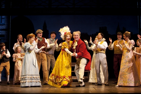 Helen Hedman, Rick Hammerly, and the cast of A CHRISTMAS CAROL