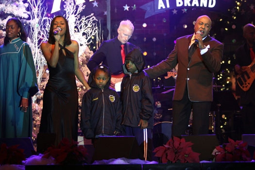 Christy White and Peabo Bryson at The Americana at Brand Photo
