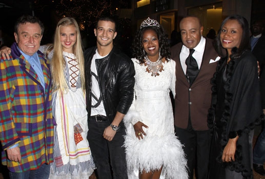 Jerry Mathers, Veronica Dunne, Mark Ballas, Jennifer Leigh Warren, Peabo Bryson and Chrisy White at The Americana at Brand