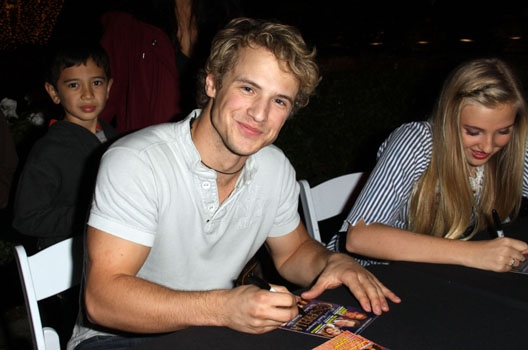 Veronica Dunne and Freddie Stroma at The Americana at Brand