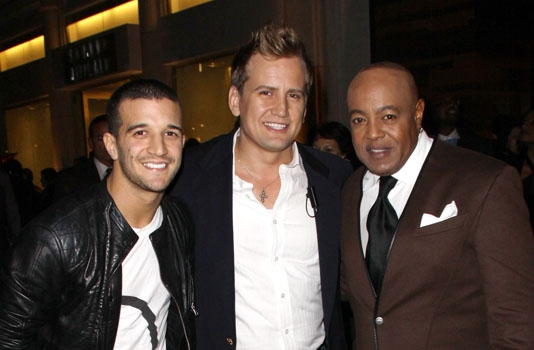 DWTS' Mark Ballas, producer Chris Isaacson and Grammy-winner Peabo Bryson at The Amer Photo