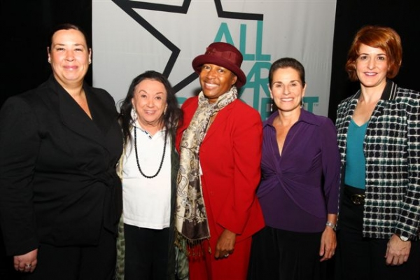 Amadea Edwards, Judith Malina, Elizabeth Van Dyke, Carolyn Dorfman and Gabrielle L. Kurlander at The All Stars Project's Breakthrough Breakfasts: Women on the Verge