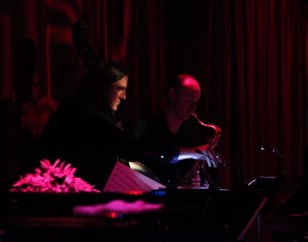 The Band: Music director - drums, guitar etc - Michael Croiter, Piano - Michael Patrick Walker, Bass.- Jim Donica & Sax. - Dan Willis
