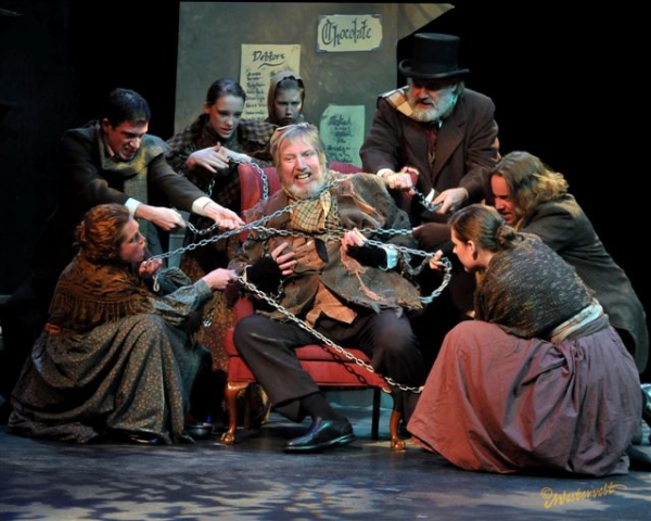 James Fleming and the cast of A CHRISTMAS CAROL