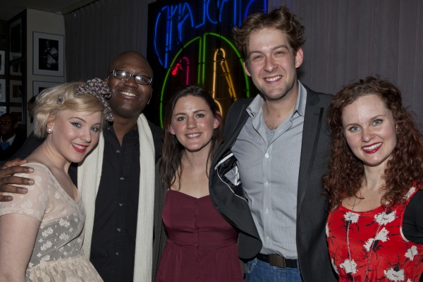 Ceili O'Connor, Titus Burgess, Carrie Manolakos, Andrew Kober and Autumn Hurlbert at Bobby Cronin Plays Birdland