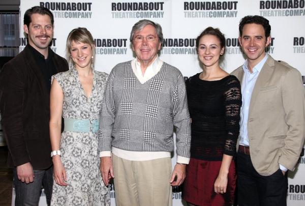 David Furr,  Charlotte Parry, Brian Bedford, Sara Topham and Santino Fontana