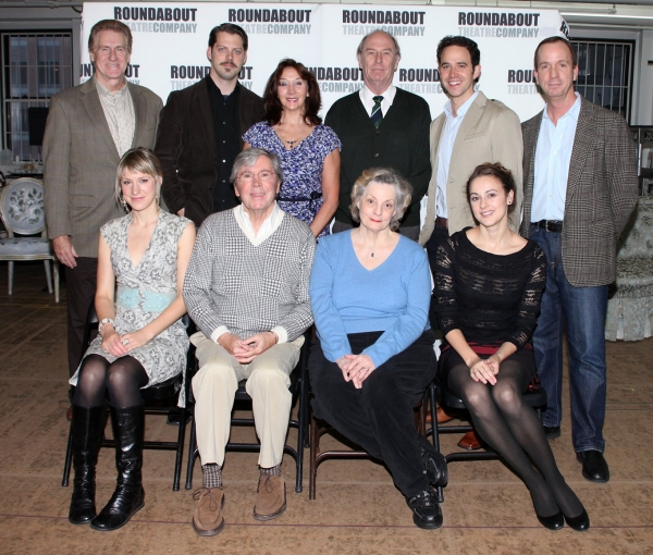First Row:  Charlotte Parry,  Brian Bedford, Dana Ivey,  Sara Topham, 2nd Row: Paul O'Brien, David Furr, Sandra Shipley, Paxton Whitehead, Santino Fontana and Tim McDonald