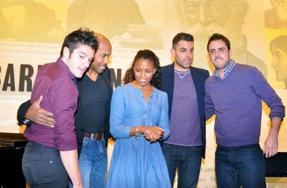 Jesse Vargas, Darius de Haas, Nikki Renee Daniels, Zak Resnick and Scott Alan at The Songs of Scott Alan at Barnes & Noble