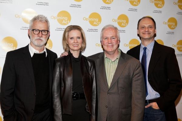 John Slattery, Cynthia Nixon, Bill Corbet and Michael Mastro Photo