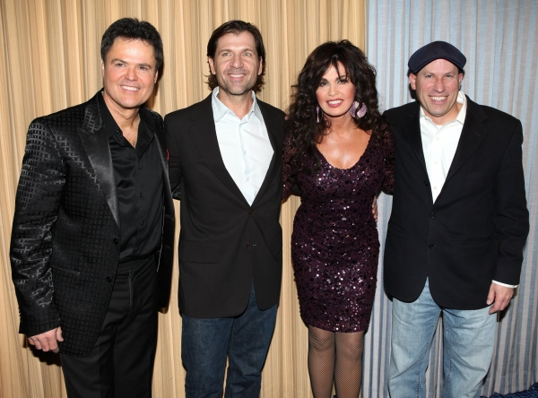 Donny Osmond & Marie Osmond with producers Gregory Young and guest