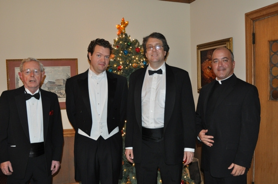 Ronnie Allen, Karl Scully, Josh Rosenblum and Rev. Monsignor Thomas M. Coogan