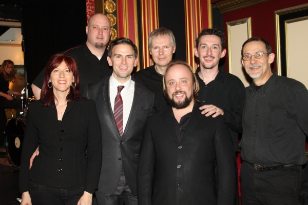 Daniel Reichard with the band; Randy Kapralick, Steve Gibb, Jay Webb, Deni Bonet, Ed  Photo
