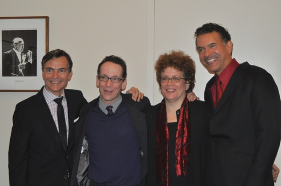 William Schermerhorn, Larry Hochman, Judith Clurman and Brian Stokes Mitchell