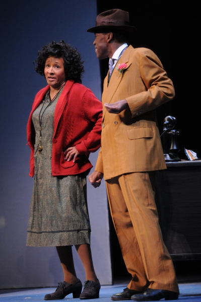 Wanda Sykes and Reggie Whitehead at Wanda Sykes as 'Hannigan' in Media Theatre's ANNIE!