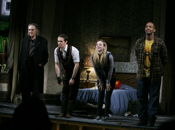 "Christopher Walken, Sam Rockwell, Zoe Kazan & Anthony Mackie  -  ""A Behanding in Spokane"" at the Gerald Schoenfeld Theatre in New York City. March 4, 2010"