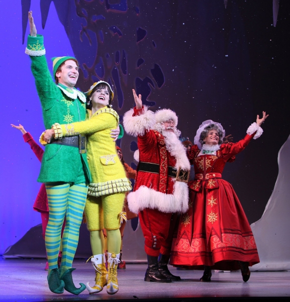 Sebastian Arcelus & Amy Spanger & George Wendt & Nancy Johnston - 'Elf' at The Al Hirschfeld Theatre 11/14/2010 at 2010 Curtain Call Highlights - Part One