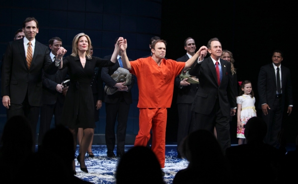 "Stephen Kunken, Marin Mazzie, Norbert Leo Butz, Gregory Itzin  - ""ENRON"" at the Broadhurst Theatre on 4/27/2010"