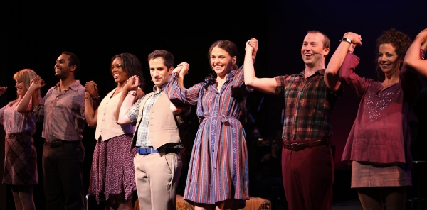 """Kaitlyn Davidson, Jesse Nager, Amber Efe, Seth Rudetsky, Sutton Foster, Tyler Maynard, Alex Elli - Actors Fund Benefit Performance of """"THEY'RE PLAYING OUR SONG"""" at the Gerald W. Lynch Theatre on 8/30/2010"""