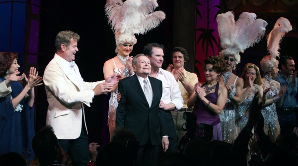 """Kelsey Grammer, Douglas Hodge, Jerry Herman, Christine Andreas - """"La Cage Aux Folles"""" at the Longacre Theatre on 4/18/2010"""