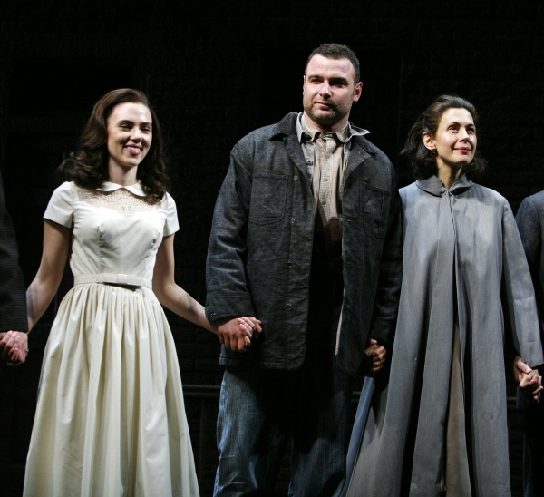 Scarlett Johansson, Liev Schreiber, Jessica Hech - 'A VIEW FROM THE BRIDGE'  at the Cort Theatre on 1/24/2010 at 2010 Curtain Call Highlights - Part One