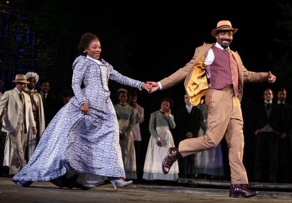 Marianne Jean-Baptiste & Jesse L. Martin - THE MERCHANT OF VENICE at the Delacorte Theater on 6/21/2010