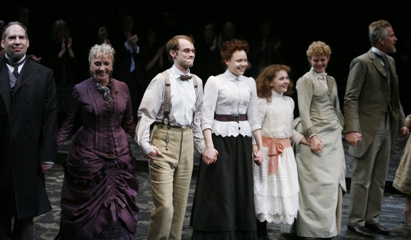 Daniel Oreskes, Elizabeth Franz, Tobias Segal, Alison Pill, Abigal Breslin, Jennifer Morrison & Matthew Modine -  'The Miracle Worker' at Circle in the Square Theatre on 3/3/2010 at 2010 Curtain Call Highlights - Part Two