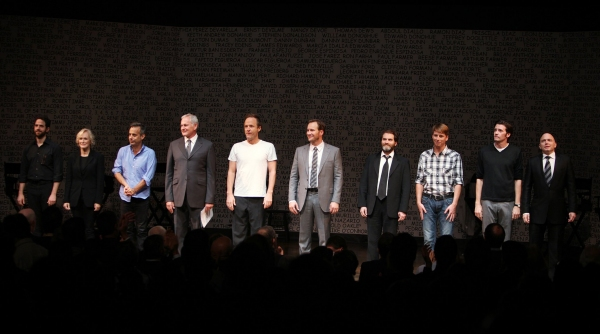 Santino Fontana, Glenn Close, Joe Mantello, Victor Garber, John Benjamin Hickey, Patrick Wilson, Michael Stuhlbarg, Jack McBrayer, Jason Butler Harner & Michael Cerveris - 25th Anniversary Benefit Staged Reading of 'THE NORMAL HEART' on 10/18/2010 at 2010 Curtain Call Highlights - Part Two