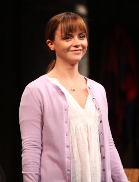 Christina Ricci - 'TIME STANDS STILL'  at The Cort Theatre on 10/7/2010 at 2010 Curtain Call Highlights - Part Two