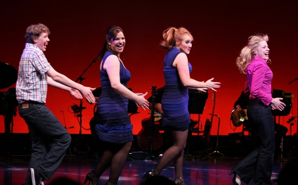 """Eamon Foley, Lindsay Mendez, Betsy Wolfe, Sherie Rene Scott  -  """"EVERYDAY RAPTURE"""" at the American Airlines Theatre on 4/29/2010"""