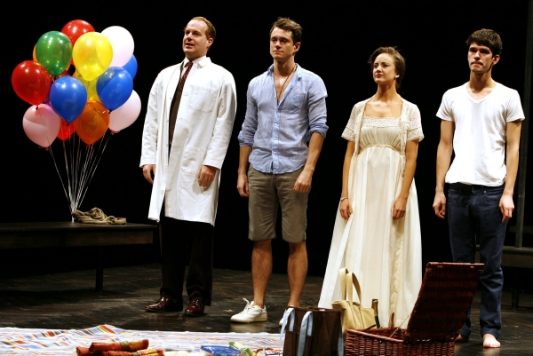 "Adam James, Hugh Dancy, Andrea Riseborough & Ben Whishaw - ""THE PRIDE"" at the Lucille Lortel Theatre  on 2/16/2010"