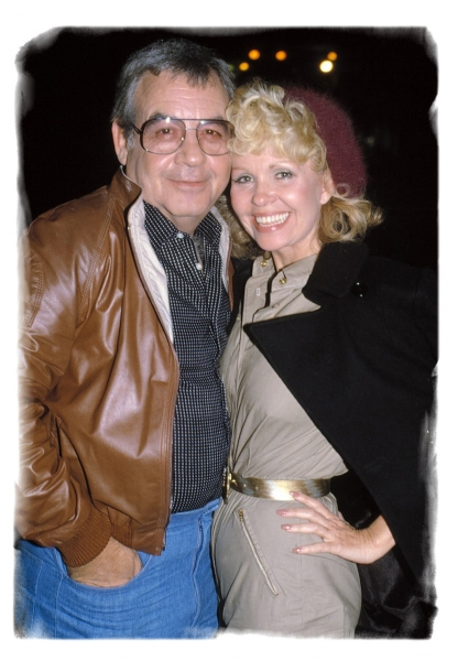 "Tom Bosley & wife at ""Elaines"", NYC.  10/1/1981"