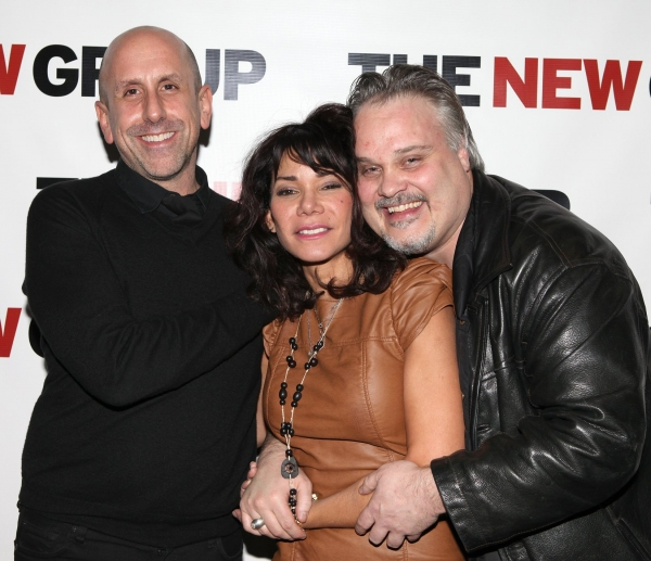 Scott Elliott, Daphne Rubin-Vega & Tommy Nohilly at BLOOD FROM A STONE Celebration