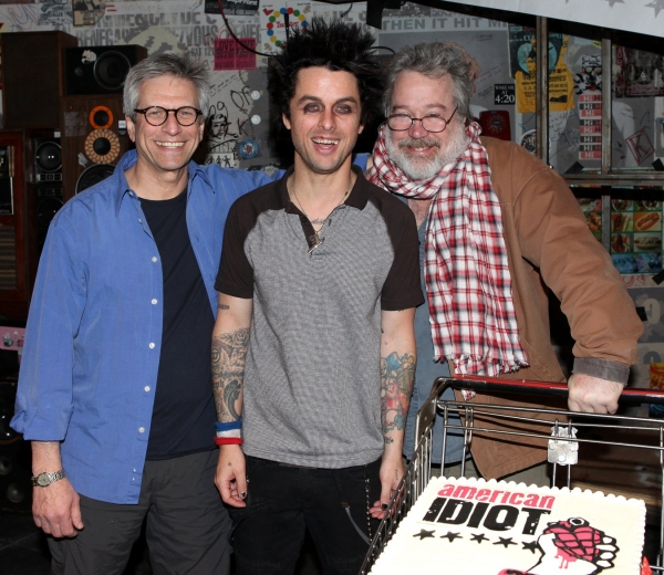 Billy Joe Armstrong (Green Day) with producer Ira Pittelman & producer Tom Hulce