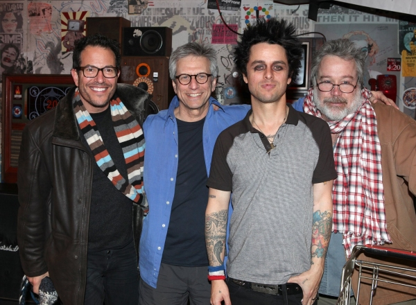 Billy Joe Armstrong (Green Day) with director Michael Mayer, producer Ira Pittelman & producer Tom Hulce