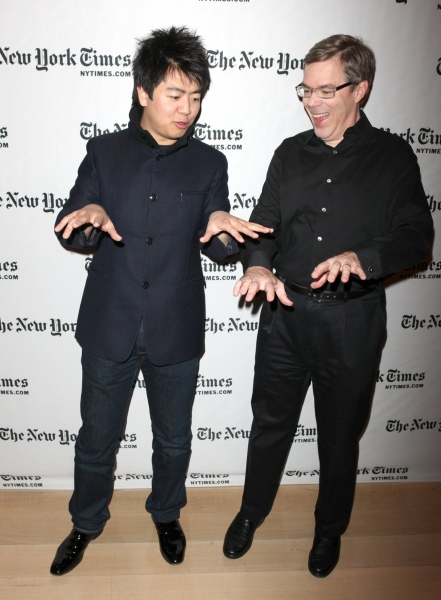 Classical pianist Lang Lang and writer James Barron