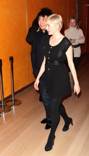 Michelle Williams & Lang Lang at Michelle Williams & Lang Lang visit Times Talks