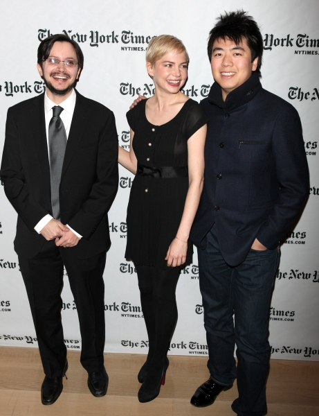 N.Y. Times culture reporter Dave Itzkof & Michelle Williams  with Lang Lang Photo