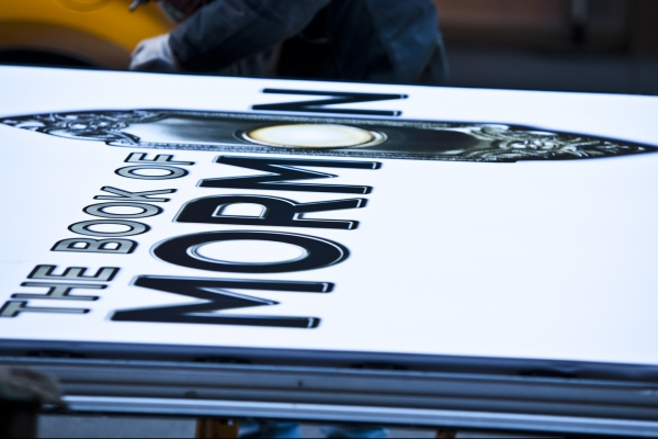 Photo Coverage: BOOK OF MORMON Marquee is Going Up! Part 1