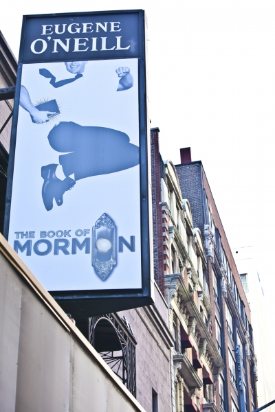 Photos: BOOK OF MORMON Marquee is Going Up! Part 2