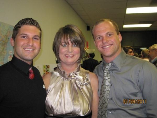 Elliott Cunningham, Lisa Garner Harrison and Evan Montgomery Photo