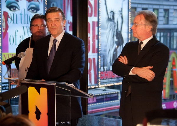 David Burke, Robert Steel, and George Fertitta at Fierstein et al. Announce 2011 NYC Tourism Boost Plan