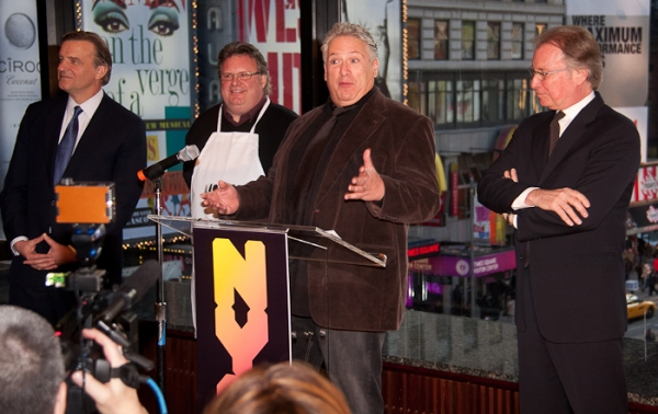 Robert Steel, David Burke, Harvey Fierstein, and George Fertitta