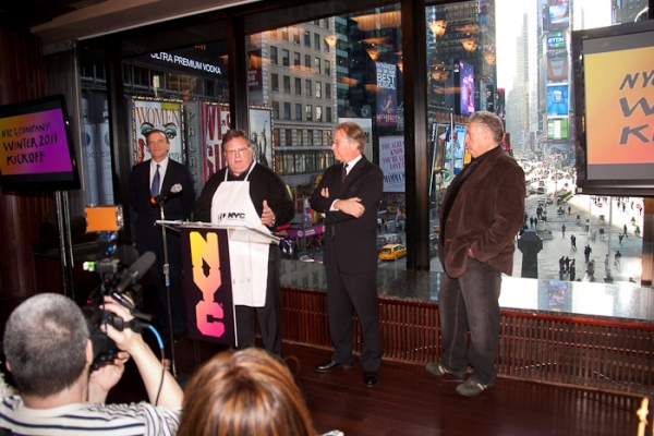 Robert Steel, David Burke, George Fertitta, and Harvey Fierstein