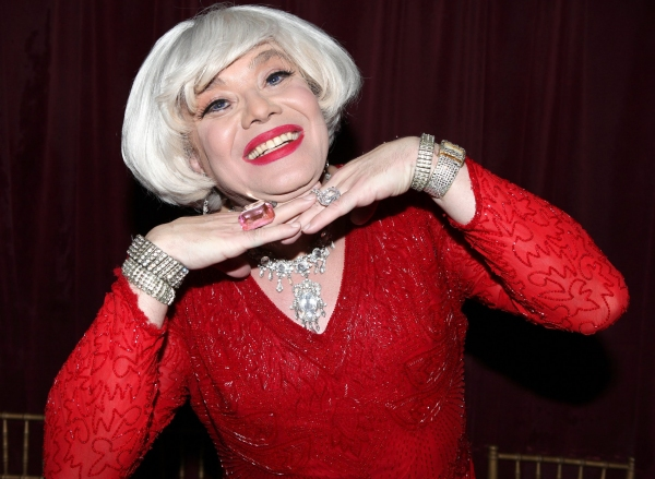 Photos: Backstage with Richard Skipper as 'Carol Channing'