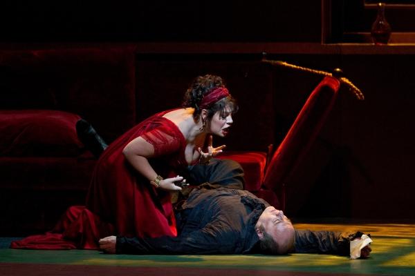 Sondra Radvanovsky, Falk Struckmann at TOSCA at the Metropolitan Opera